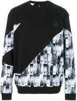 Versus safety pin print sweatshirt
