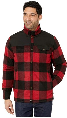 Fjallraven Canada Wool Padded Jacket (Red) Men's Clothing