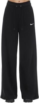 Nike Cotton Blend Wide-leg Tech Pants