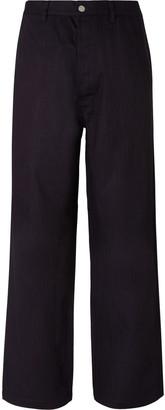 Maison Margiela Wide-Leg Herringbone Cotton Trousers