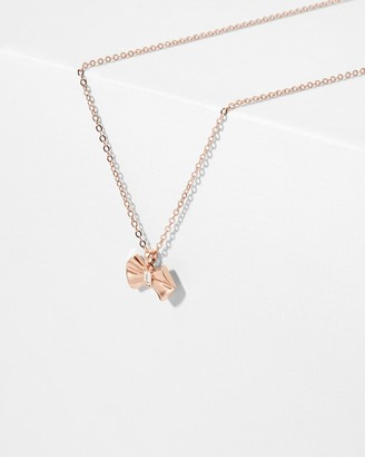 Ted Baker SARAHLI Solitaire bow pendant