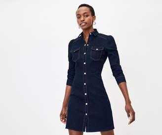 Oasis Denim Mini Shirt Dress
