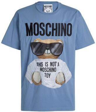 Moschino Cotton Teddy Bear Print T-Shirt