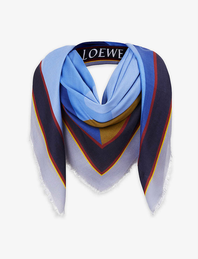 Loewe Puzzle cashmere-blend scarf