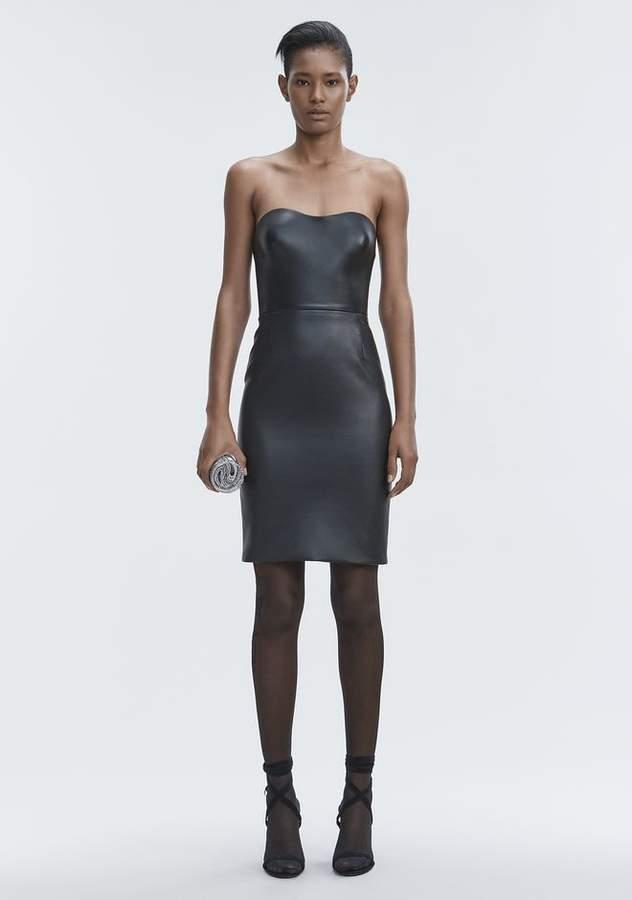 Alexander Wang LEATHER BUSTIER DRESS Long Dress
