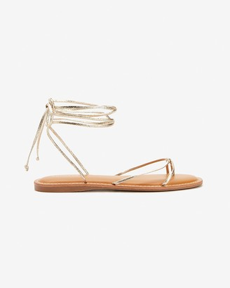 Express Lace-Up Strappy Thong Sandals