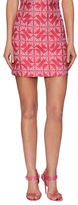 Floral High-Waist Mini Skirt