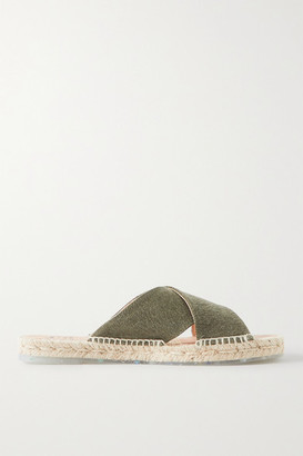 Castaner Palma Canvas Espadrille Slides - Army green