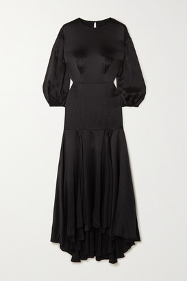 TOVE Sabine Silk-crepon Midi Dress - Black