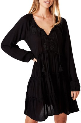 Cotton On Woven Millicent Long Sleeve Smock Dress