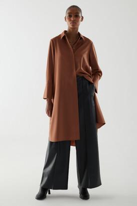 Cos Wool Mix Shirt Dress