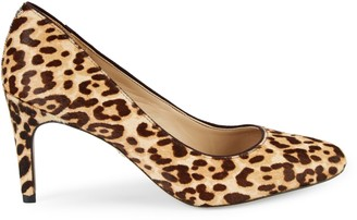 Sam Edelman Elise Jaguar-Print Calf Hair Pumps