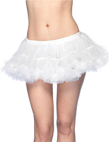 Leg Avenue White Puffy Chiffon Mini Petticoat - Women