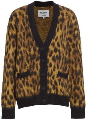 RE/DONE Oversized Cheetah Cardigan
