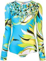 Emilio Pucci abstract print embellished top