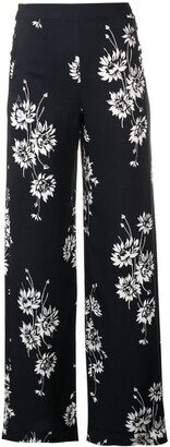 McQ Swallow Floral Printed Trousers