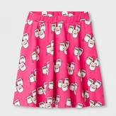 Say What Girls' A Line Skirt - Pink