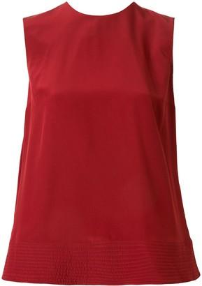 Roksanda silk pleated detail blouse