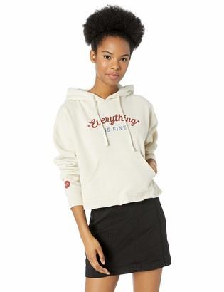 RVCA Junior's Everything is FINE Hooded Sweatshirt