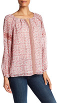 Max Studio Printed Long Sleeve Blouse