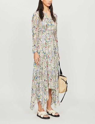 Maje Floral-print crepe maxi dress