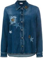 RED Valentino star-embellished denim jacket