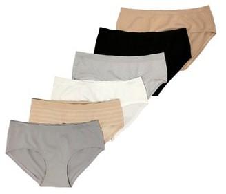 Secret Treasures Women's Seamless Hipster Panties, 6-Pack