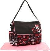 Disney Minnie Mouse Floral Graffiti Print Diaper Bag with Flap