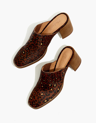 Madewell The Carey Mule in Painted Leopard Calf Hair
