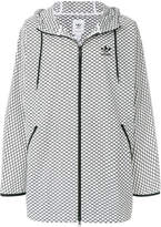 adidas patterned Trefoil hooded jacket