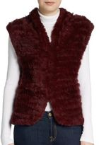 Saks Fifth Avenue Shawl-Collar Rabbit Fur Vest