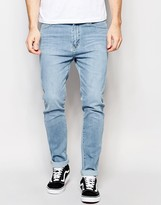 Dr Denim Snap Skinny Jeans Light Wash Blue