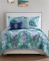 Victoria Classics Emerald Paisley 5-Pc. Reversible Queen Quilt Set