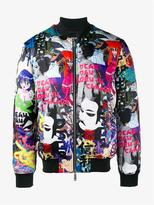 Dsquared2 Duck Down Manga Print Bomber Jacket