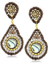 Miguel Ases Abalone Small Tear Drop Post Earrings