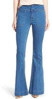 Olivia Palermo + Chelsea28 High Rise Flare Jeans (Mode Lt Rinse)