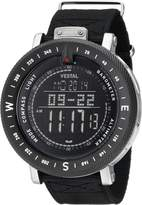 "Vestal Men's GDEDP07 ""The Guide"" Stainless Steel Digital Watch with Canvas Band"