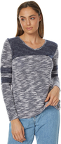 Element New Day Womens Knit Ls Tee Blue