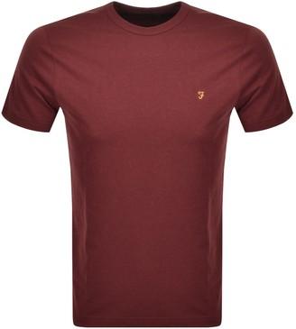 Farah Danny Short Sleeved T Shirt Red