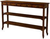 """Theodore Alexander Luberon 54"""" Tiered Console - Brown"""