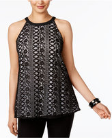 Alfani Lace Halter Top, Only at Macy's