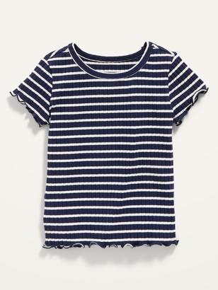 Old Navy Short-Sleeve Lettuce-Edged Tee for Toddler Girls
