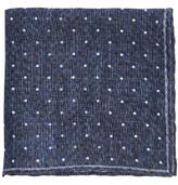 Brunello Cucinelli Polka-dot Print Linen Pocket Square
