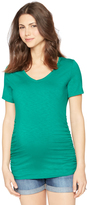 A Pea in the Pod V-neck Side Ruched Maternity Tee