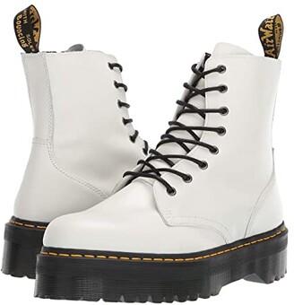 Dr. Martens Jadon Quad Retro (White Polished Smooth) Men's Boots