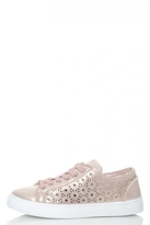 Quiz Rose Shimmer Laser Cut Trainers