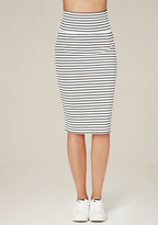 Bebe Striped Midi Skirt