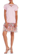 Alexis Mabille Tiered Ruffle T-Shirt Dress