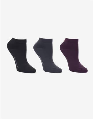 Donna Karan Soft Microfiber 3 Pc Low Cut Dress Sock