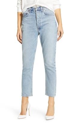 A Gold E AGOLDE Riley High Waist Crop Straight Leg Jeans